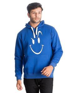 Fleece Evil Smile Printed Hoodies for Men