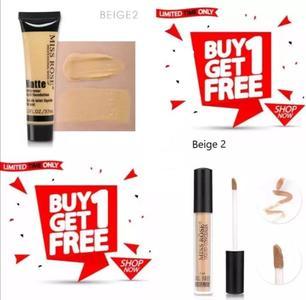 Buy Miss Rose Foundation Get Miss Rose Concealer Free - All Shades