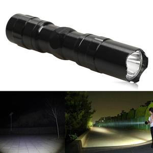 3W Police LED Flashlight Light Lamp Torch with Clip Clamp Electric Torch