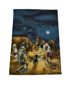 Knc-Ak 1286 -  Tapestry Textile Art Hanging-Nativity - Multicolor