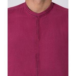 Red Cotton Mens Kurta-97703
