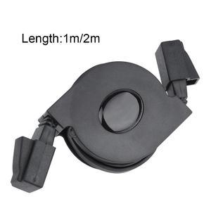 1pc New Adjustable Retractable CAT6 RJ45 Lan Network Cable Cord Black (1m)