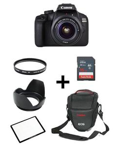 Pack Of 7 - Canon DSLR EOS 4000D With 18-55mm, 16GB,V Bag,Lens Filter,Screen Protector,Lens Hood