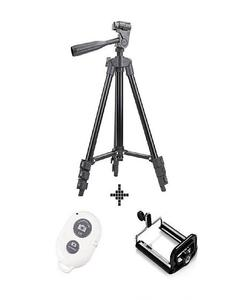 3120 - Tripod Stand with Mobile Holder & Shutter - Black & White