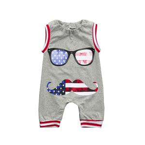 Rainbowroom 2019 US Flag Newborn Toddler Baby Boy Kids Romper Jumpsuit Glasses Clothes Outfits