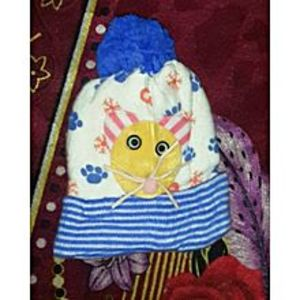 Farhan & Rafay's Collection Blue Winter Cap For Babies