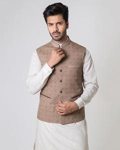 Bonanza Satrangi - Beige Suiting Fabric Men's Waist-Coat - 50780-XL
