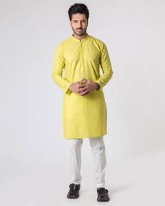 Bonanza Satrangi - Yellow Jaquard Men's Kurta-97705 - 97705-S