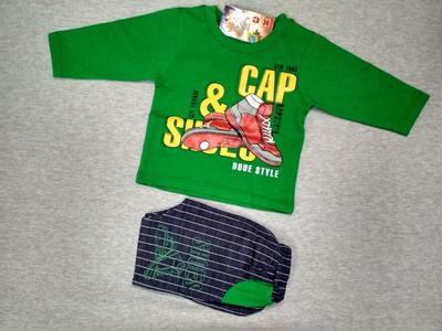 GLX Winters Collections Green Yellow Boys Full Sleeve Clothing Set Baba 738