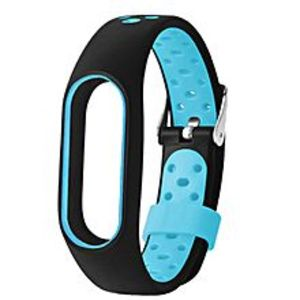 SJ DIGITAL STORE Mi Band 2 Strap - Black & Blue