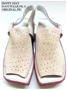 40% OffStylish Velvet Leather Mens Cream Balaaj Peshawari Sandal (Same Product Will Deliver)