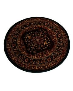 Round Rug - Synthetic - 3X3 - Black