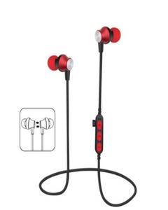 Bluetooth Ms-T2 Earphone Wireless Headset Stereo Sports Mp3 - Red