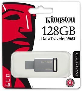 Kingston 128GB USB 3.0 DataTraveler 50 - Lifetime Warranty