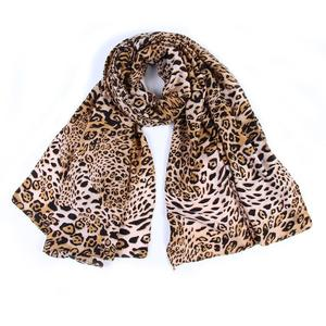Women Leopard Printing Scarf Fashion Retro Female Multi-Purpose Shawl Scarf