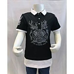 Tiny TodsBlack Premium Quality Imported Polo Shirt With Net For Boys