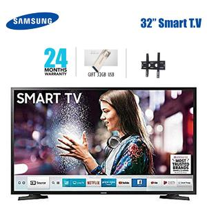 "SAMSUNG NU5500 Smart TV-Smart LED TV- 32"" with 2 Year Warranty-8GB USB Included 4K Videos for Test- Free Wall Mount"