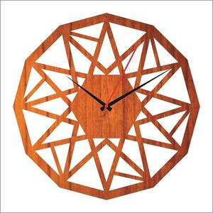 Wooden cutting wall clock laser cutting antique wall clock (102)