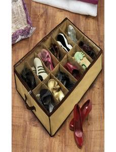 12 Shoes Under Bed Storage Rack Organizer