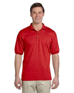Plain Short Sleeve Sports Polo Shirt - Red