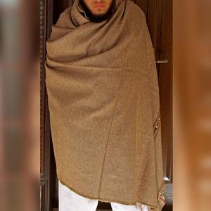 Light Brown Pure Bannu Pashmina Dhussa Shawl (Handmade) SHL-245-1