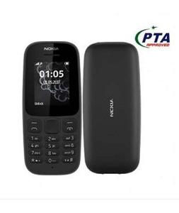 Product details of Brand New Nokia 105 box Pack Mobile ons 112 x 49.5 x 14.4 mm Weight 0.73 g SIM Dual Sim, Dual Standby (Mini-SIM) Colors Black, Blue, White Frequency 2G Band SIM1:GSM: 900 / 1800 SIM2:GSM: 900 / 1800 Display Technology TFT, 65K colo