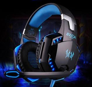 Gaming Headset With Mic For PC,PS4,Xbox One Over-Ear Headphones Deep Bass  Playstation Xbox One - Black And Blue - G2000
