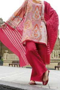 Almirah Festive Collection 2019 Vol 2 LAWN Pink STITCHED - 3PC Suit for Women