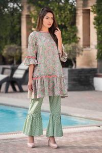 SITARA STUDIO Sapna Collection 2019 Multicolor Lawn 2PC Unstitched Suit For Women - 6107 C  (Un-stitched)