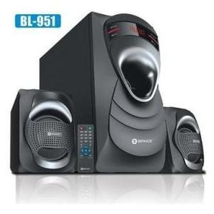 "SPACE BLAST BL-951 2.1 Wireless Speaker Series - 5"" Woofer, LED Display, BT, SD, USB, FM & Remote"