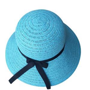 Floppy Foldable Ladies Women Straw Beach Sun Summer Hat Beige Wide Brim