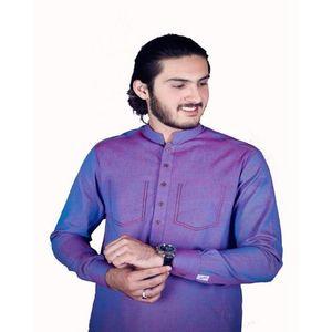 Double Shaded Khadi Stuff Kurta For Men HD-204