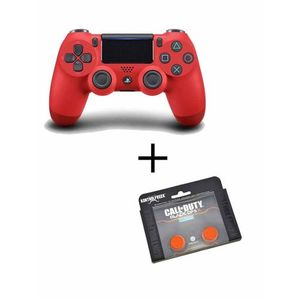 Playstation 4 Dualshock Controller With Analog Extender - Red And Orange