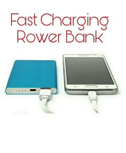 Power Bank 12000 mAh - For iPhone Samsung  - Ultra Thin Aluminium Polymer -