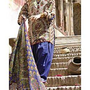 AlmirahGreen LAWN 3pcs Unstitched Suit for Women