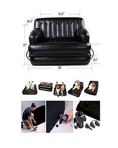 Am Air O Sofa Cum Bed - 5 In 1 - Black