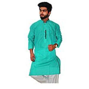 khareeedlopkSea Green Stitched Kurta For Men