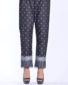 Bonanza Satrangi - Black Cambric Ladies Trouser – Lts-320 - LTS-320-14