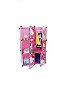 Plastic Hanging & Storage Cabinet & Wardrobe-Hello Kitty