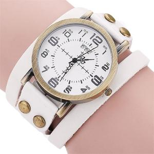 CCQ Brand Vintage Cow Leather Bracelet Watch Men Women Wristwatch Quartz WH