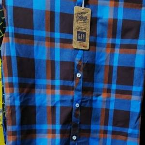 Casual Shirt - Blue and Brown Checked - Winter Collection