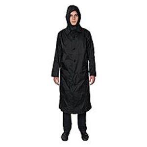SMART BRANDBlack Polyester Hooded Waterproof Raincoat