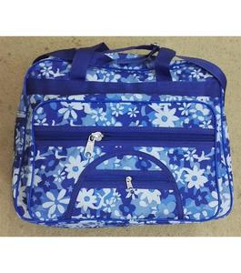 School, College and Travelling Bag For Girls  Blue and White