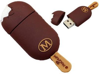 Lovely USB Flash Drive Ice Cream 64GB USB 2.0 Pen Drive USB Stick Pendrive Flash Card Flash Memory Stick U Disk Magnum Style 2 Brown