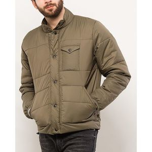 Olive Green Polyamide Jacket for Men