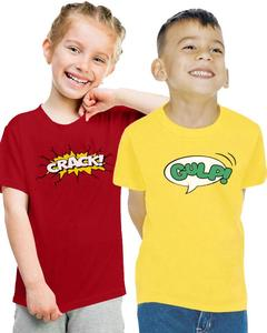 Pack of 2 Crack & Gulp Kids T-Shirt Combo