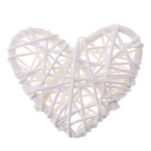 5pcs Rattan Ball Ornament DIY Wedding Decor Kids Sepak Takraw Toy(White)