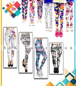Pack of 2 - Imported Stretchable Printed Tights For Women