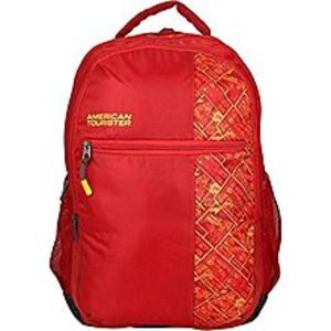 American Tourister Pack of 2 - At Jazz I Backpack + Pencil Case - Poppy Red