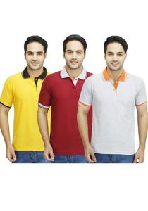Pack of 3 - Contrast T-Shirts For Men